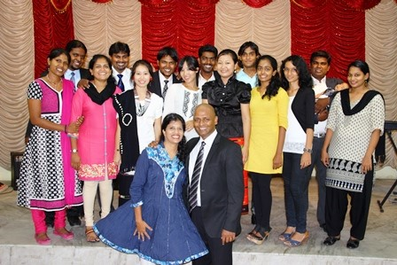 Raja & Debs Rajan and the 14 Paid Interns of the new Chennai International Christian Church!