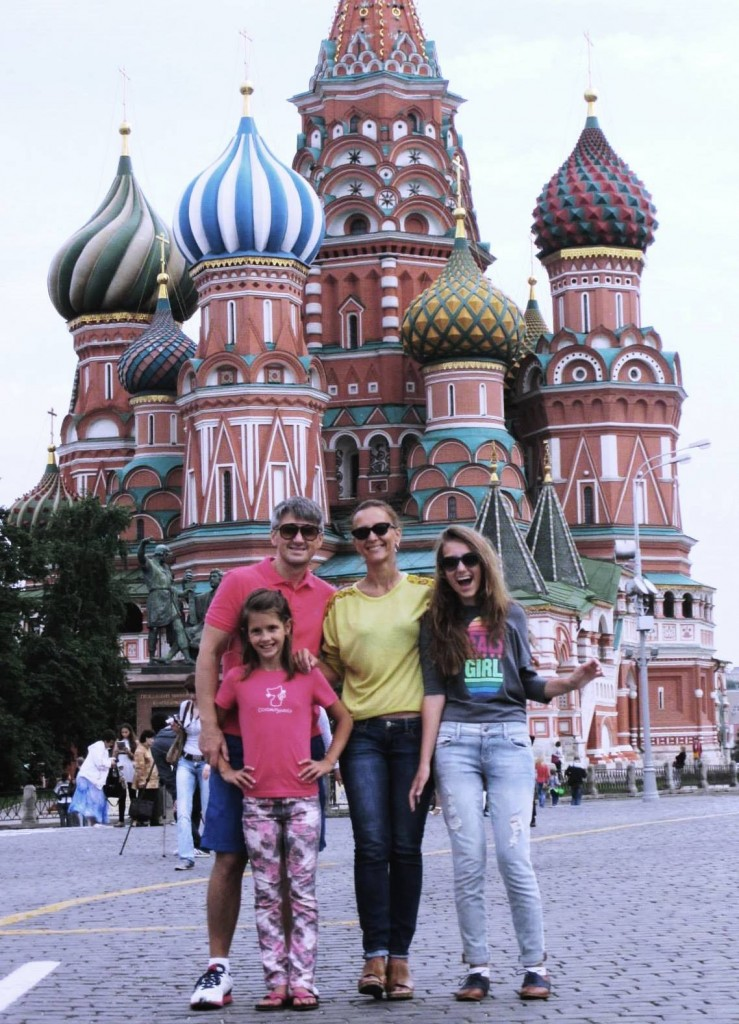 Oleg, Aliona, Sophia and Lydia Sirotkin in Moscow's Red Square!EURASIA (RUSSIAN COMMONWEALTH)